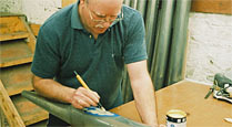 Hand Painting an Organ Pipe